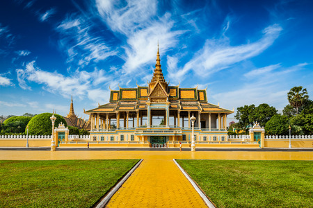 Phnom Penh Royal Palace complex Editorial