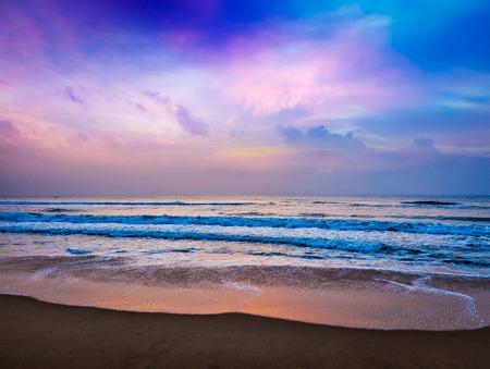 sunrise beach: Peaceful ocean sunrise