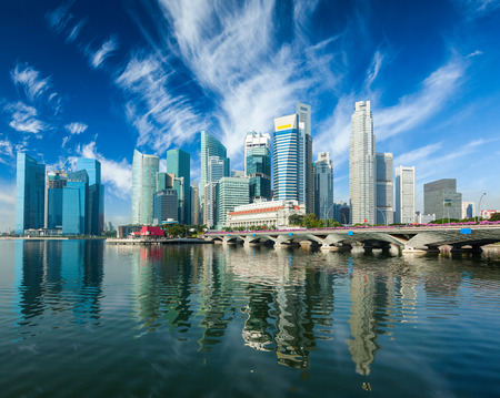 singapore cityscape: Singapore skyscrapers