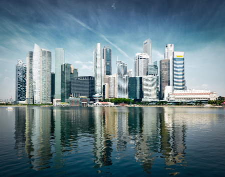 singapore building: Modern city skyline