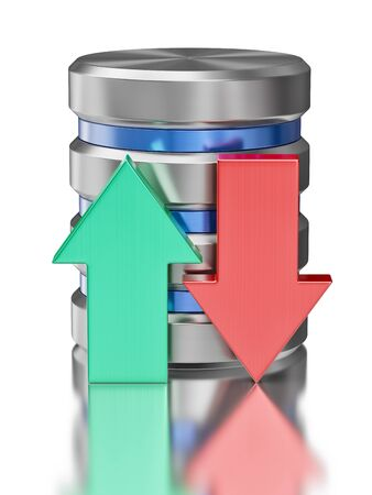 hard disk drive: Hard disk drive data storage database icon symbol