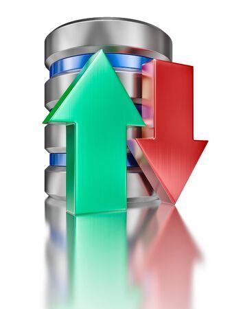 Hard disk drive data storage database icon symbol photo