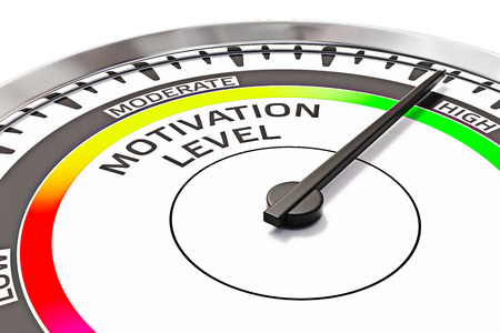 Concepto de nivel de motivación Foto de archivo - 40446014