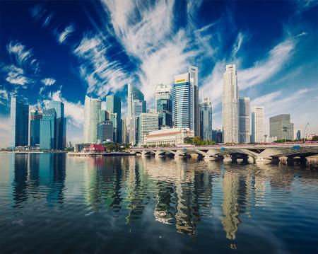 singapore skyline: Singapore skyscrapers