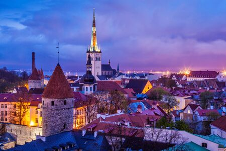 estonia: Tallinn Medieval Old Town, Estonia Stock Photo
