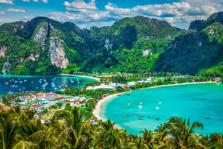thailand view: Green tropical island