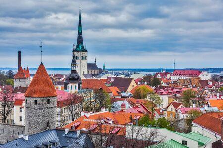 architectural heritage of the world: Tallinn Medieval Old Town, Estonia Stock Photo
