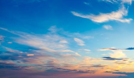 劇的な雲で夜の空 写真素材