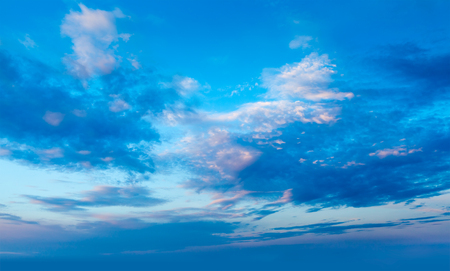 Evening sky with dramatic clouds Banque d'images