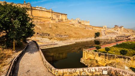 amber fort: Panorama of famous Rajasthan landmark - Amer (Amber) fort, Rajasthan, India