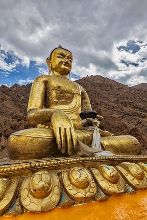 indian god: Sakyamuni Buddha statue near Hemis gompa (Tibetan Buddhist monastery). Hemis, Ladakh, India Stock Photo