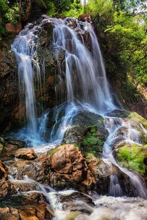 sapa: Tropical waterfal in jungle near Cat Cat Village near (Sapa) Sa Pa, Vietnam