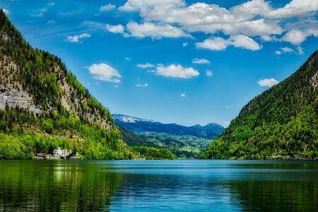 Hallstatter Zie bergmeer in Oostenrijk. Salzkammergut, Oostenrijk