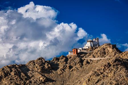 monasteri: Namgyal gompa TSEM e forte. Leh, Ladakh, Jammu e Kashmir, in India