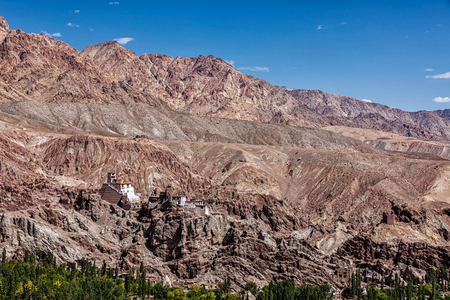 monastery nature: Basgo Gompa (Tibetan Buddhist monastery). Ladakh, India
