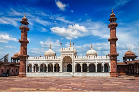 madhya pradesh: Moti Masjid (Pearl Mosque) in Bhopal, Madhya Pradesh, India