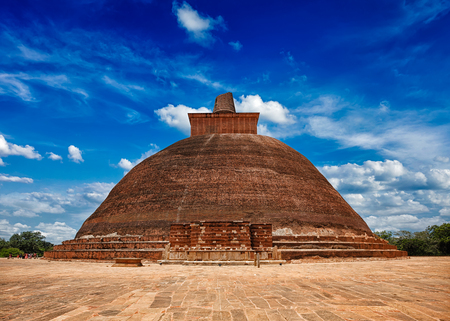 dagoba: Sri Lankan tourist landmark Jetavaranama dagoba Buddhist stupa in ancient city Anuradhapura, Sri Lanka