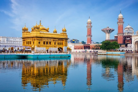 harmandir sahib: Sikh gurdwara Golden Temple (Harmandir Sahib). Amritsar, Punjab, India Stock Photo