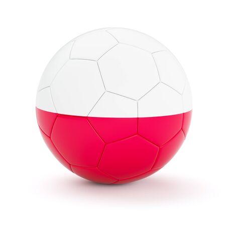 polish flag: Poland soccer football ball with Polish flag isolated on white background