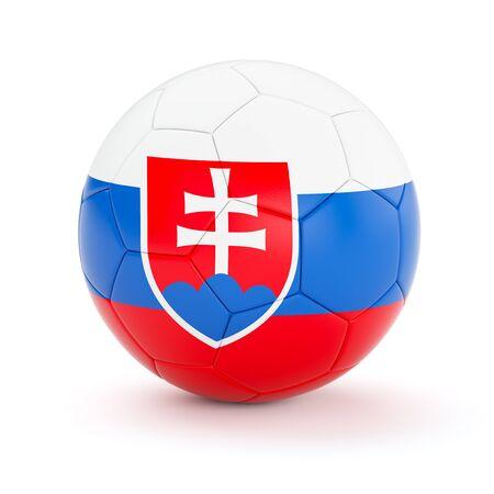 slovakian: Slovakia soccer football ball with Slovakian flag isolated on white background