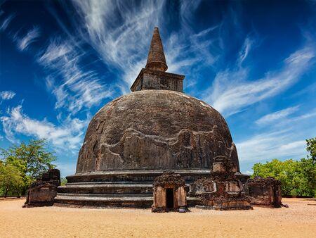 dagoba: Sri Lankan tourist landmark - Kiri Vihara - ancient dagoba. Pollonaruwa, Sri Lanka