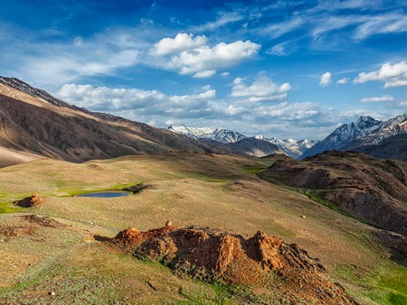 pradesh: Himalayan landscape in Spiti valley. Himachal Pradesh, India