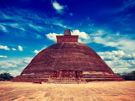 dagoba: Vintage retro effect filtered hipster style image of Jetavaranama dagoba Buddhist stupa in ancient city Anuradhapura, Sri Lanka