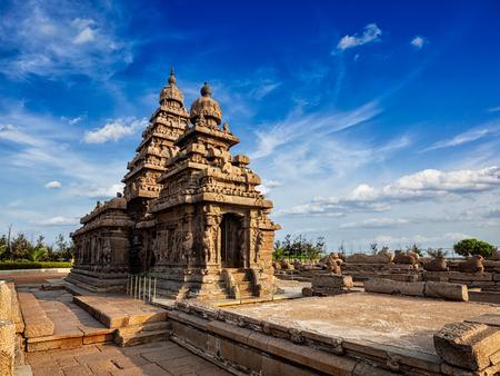pallava: Famous Tamil Nadu landmark - Shore temple, world  heritage site in  Mahabalipuram, Tamil Nadu, India