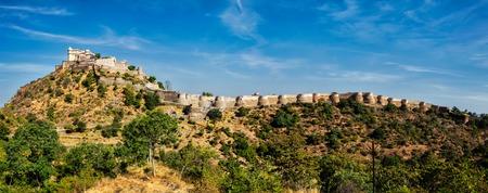 Panorama of Kumbhalgrh fort in Rajasthan, India