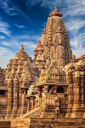 mahadev: Kandariya Mahadev Temple, Khajuraho, India. Unesco World Heritage Site Stock Photo