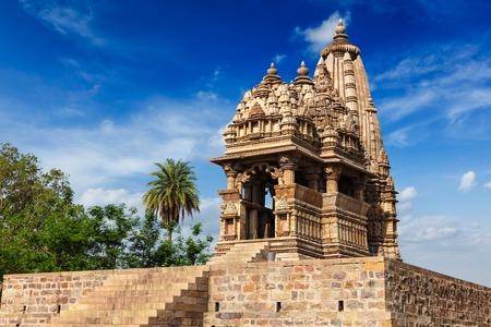 madhya: Javari Temple in Khajuraho, Madhya Pradesh, India Stock Photo