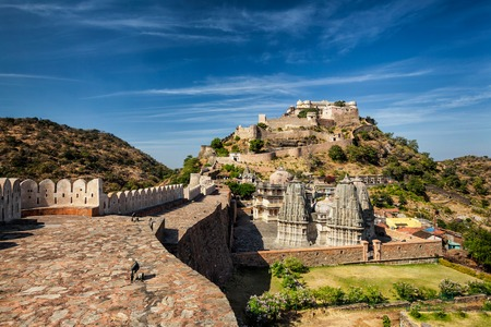 rajasthan: Kumbhalgarh fort tourist landmark in Rajasthan, India