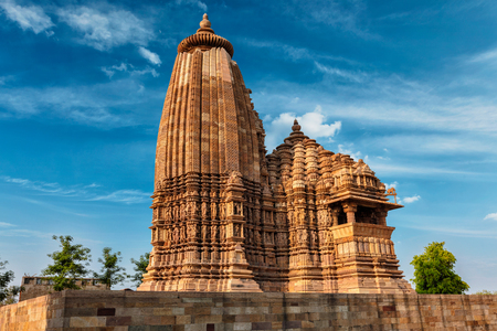 pradesh: Vaman Temple in Khajuraho, Madhya Pradesh, India Stock Photo