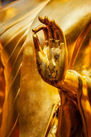 religious building: Buddha statue hand in Wat Phra That Doi Suthep, Chiang Mai, Thailand