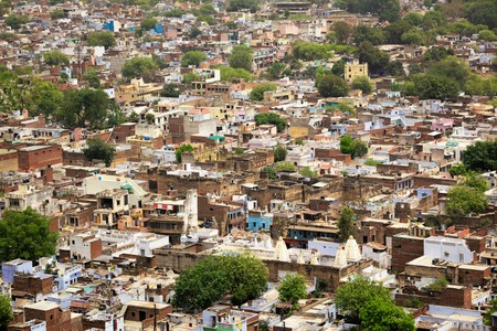 madhya: Aerial view of Gwalior city. Gwalior, Madhya Pradesh, India