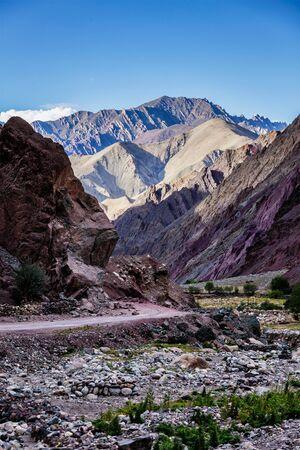 Leh-Manali road in Himalayas in Ladakh, India