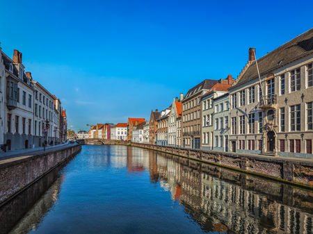 old houses: Canal and old houses, Bruges (Brugge), Belgium