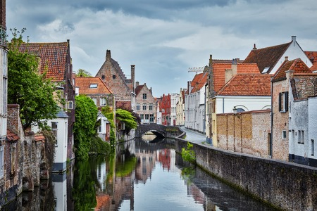Houses in Bruges Brugge, Belgium