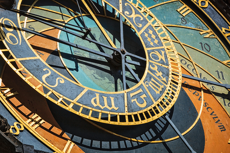 Prague astronomical clock Reklamní fotografie - 89674201