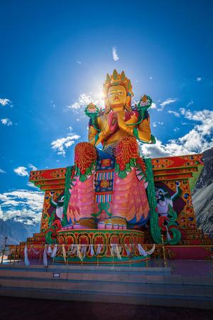 Buddha Maitreya statue in Diskit Gompa. Nubra Valley. Ladakh. Stock Photo - 90808189