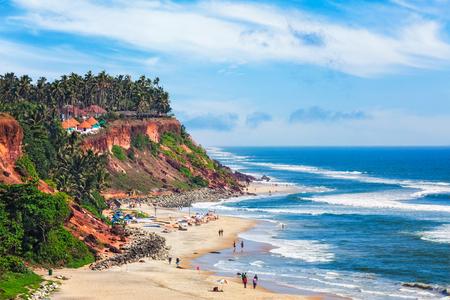 Varkala beach, Kerala, India Reklamní fotografie
