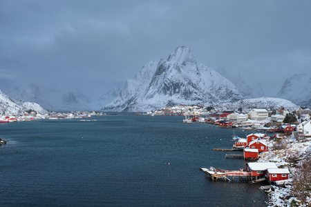 Reine fishing village, Norway Stock Photo