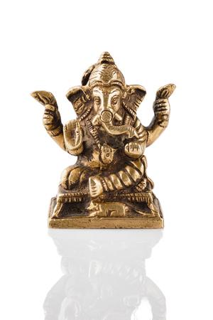 Ganesha statue on white Stock Photo