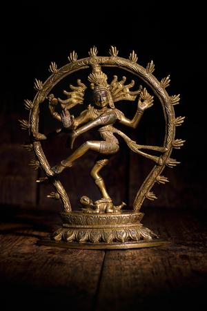 Statue of Shiva Nataraja - Lord of Dance Stock Photo