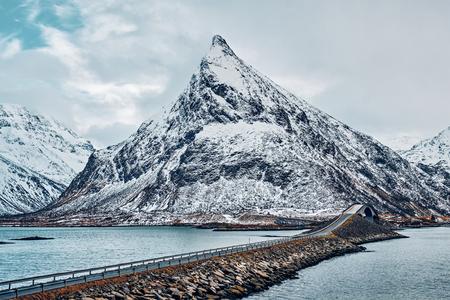 Fredvang Bridges. Lofoten islands, Norway Stock Photo