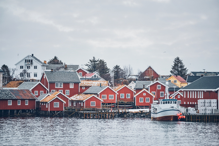 Reine fishing village, Norway Archivio Fotografico