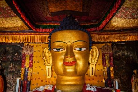 Sakyamuni Buddha statue in Shey monastery. Shey, Ladakh, India Imagens