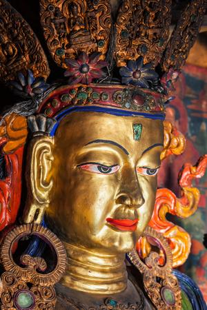 Maitreya Buddha Thiksey Gompa. Ladakh, India Imagens