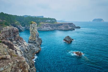 Oedolgae Rock in Jeju island, South Korea Stockfoto - 116144151