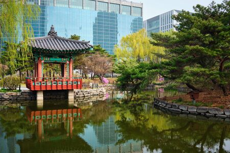 Yeouido Park in Seoul, Korea Banque d'images - 140908362